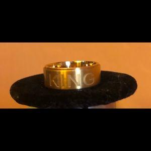 Men's titanium steel kings ring